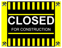 closed for construction